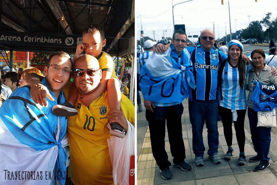 En Brasil, nos pedían sacarse fotos con nosotros. ¡Viva la hermandad latinoamericana!