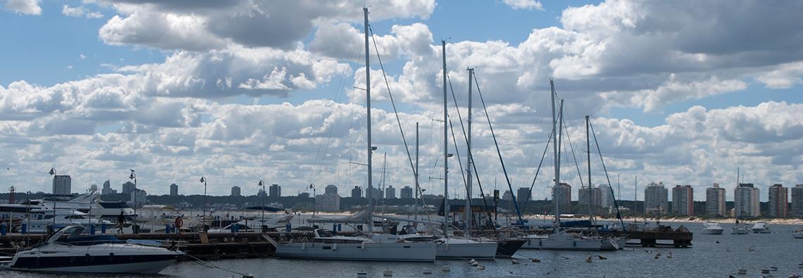 Puerto de yates de Punta del Este.