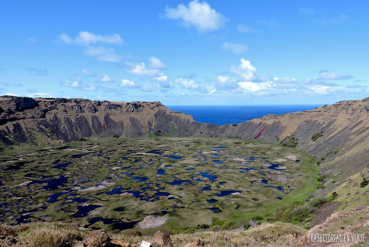 Volcan Ranu Kau - Isla de Pascua