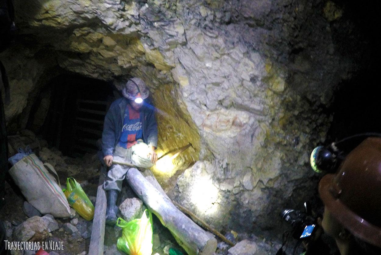 Minero de las minas de Potosí