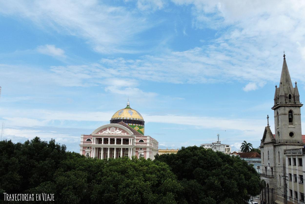 Vista del Teatro Amazonas de Manaos