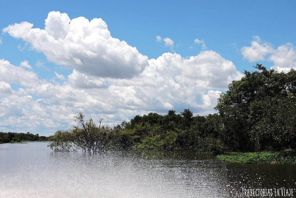 Canales de la Amazonía brasileña.