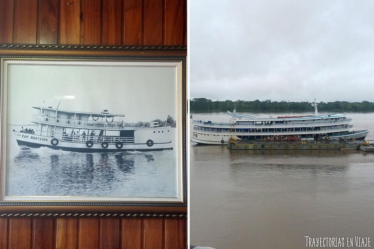 Barco en el Amazonas de Brasil