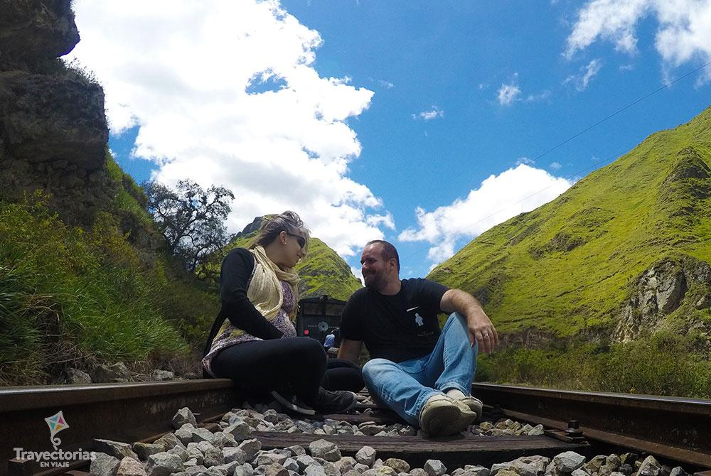 En tren a la Nariz del Diablo Ecuador