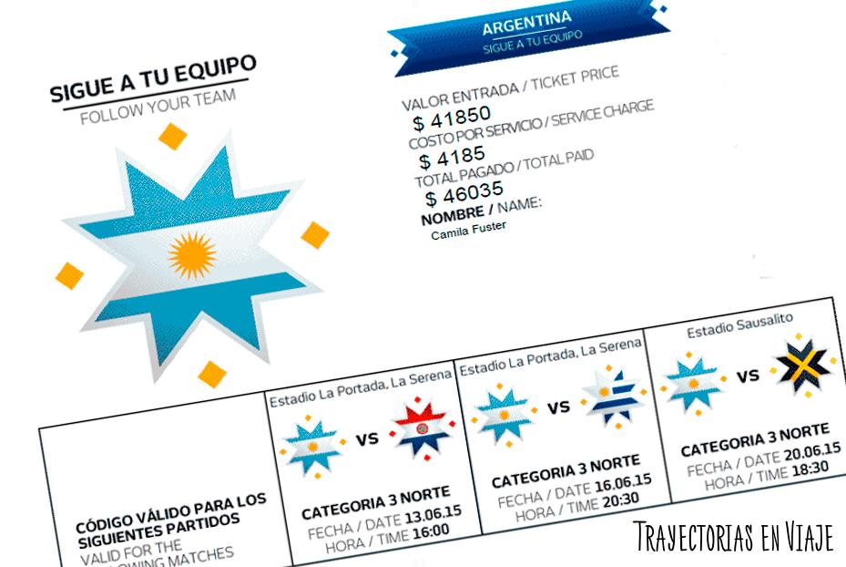 ¡Entradas de la Copa América 2015!