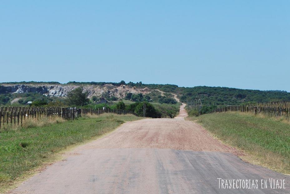 Camino a las canteras. Carmelo Uruguay