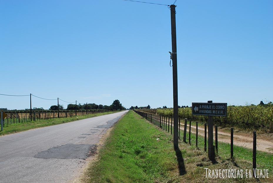 Camino a Paraje El Cerro. Carmelo Uruguay