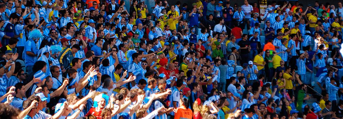 Hinchas de la selección argentina. Copa América 2015