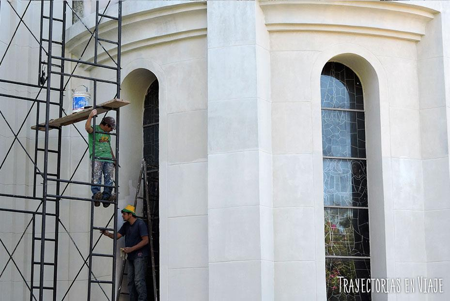 Reparaciones en la basílica de Caacupé Paraguay
