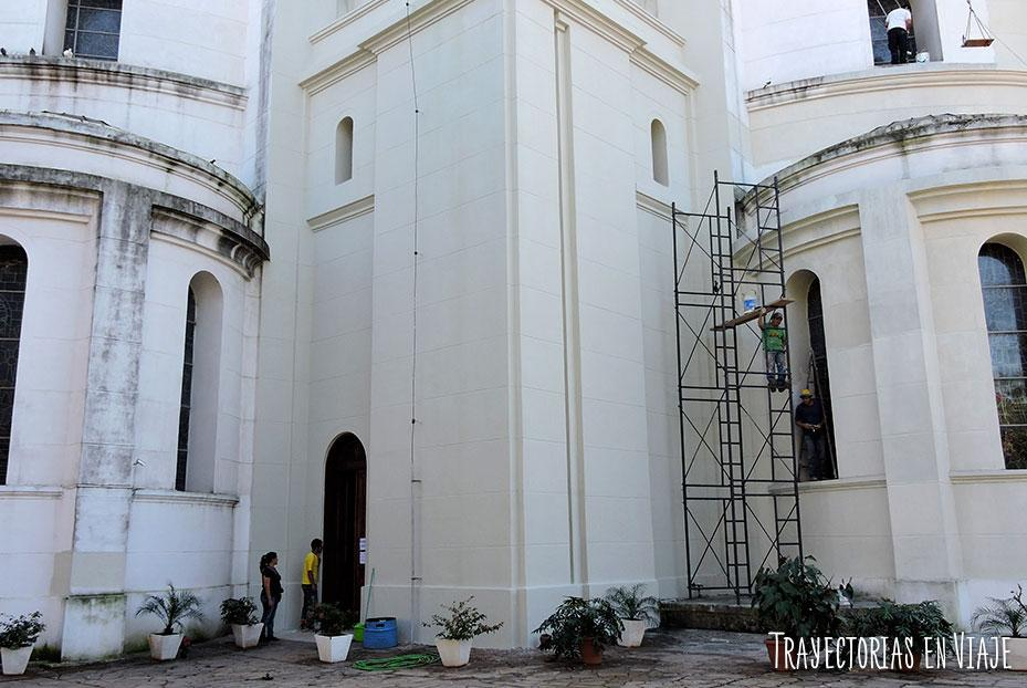 Obras en la basílica de Caacupé Paraguay