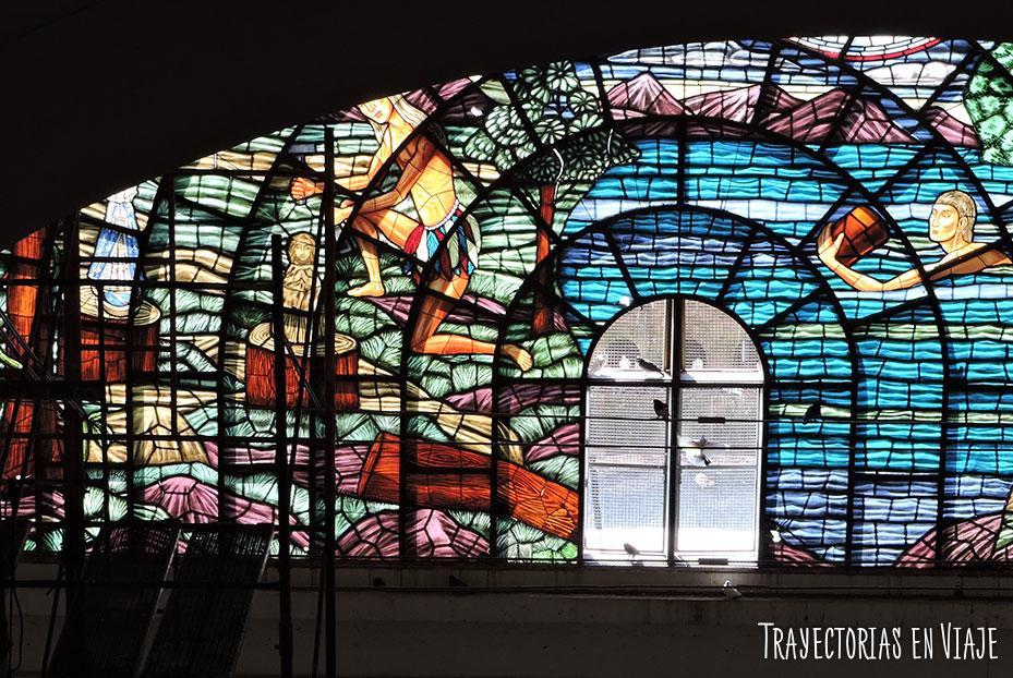 Vitral de la basílica de Caacupé Paraguay