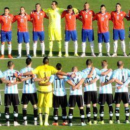 Instante previo al comienzo de la Final de la Copa América 2015