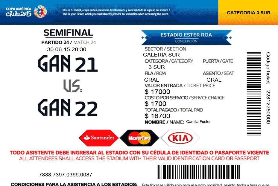 Entradas Copa América 2015