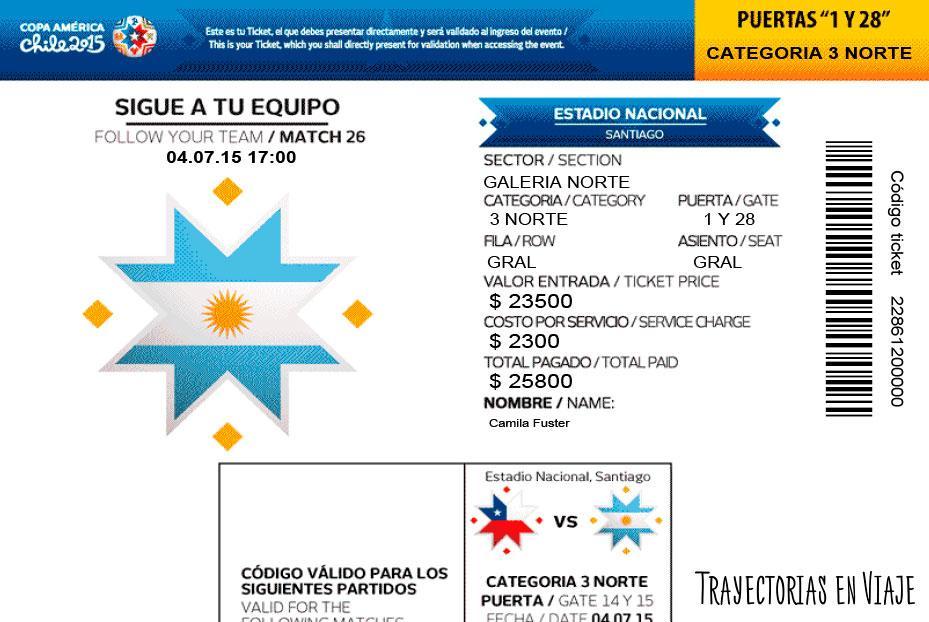 Entradas de la final Copa América 2015
