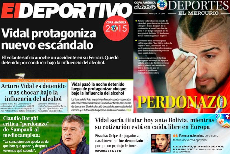 Así mostraron los medios el caso Vidal.