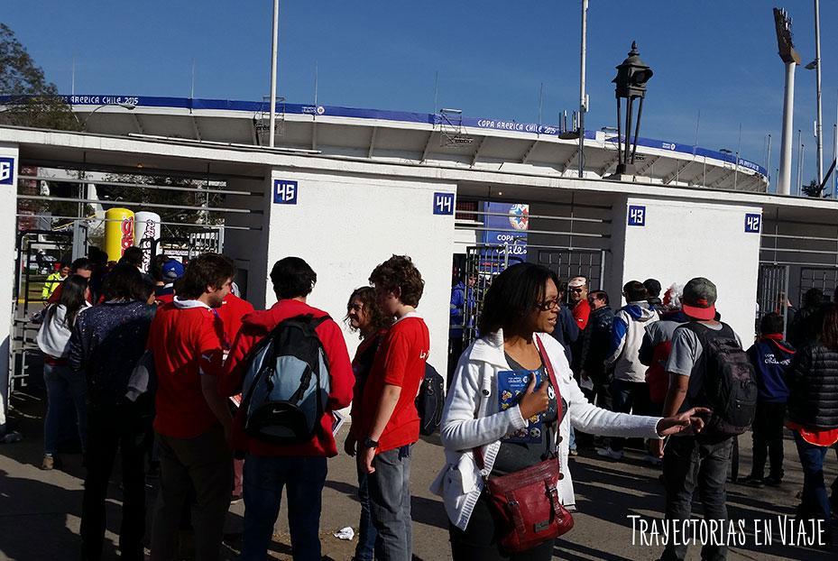 Entrada del Estadio Nacional Julio Martínez Pradanos, Santiago de Chile. Copa América 2015