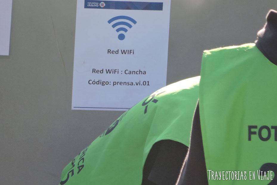 Clave WiFi del estadio Sausalito de Viña del Mar, Chile. Copa América 2015