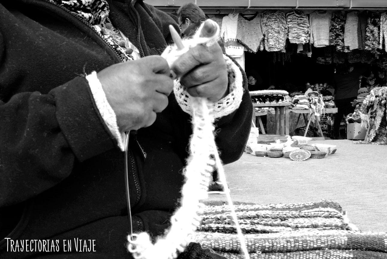 Tejedora de la Feria Artesanal de Dalcahue