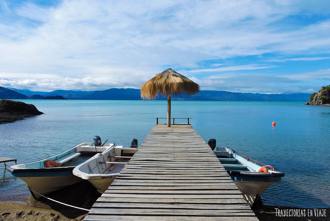 Muelle en el Lago General Carrera.