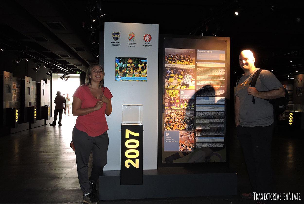 Boca campeón de la libertadores 2007 en el museo del Fútbol.