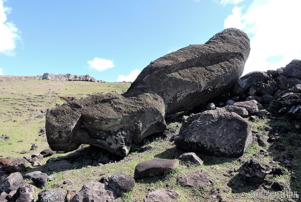 Moai caído - Isla de Pascua