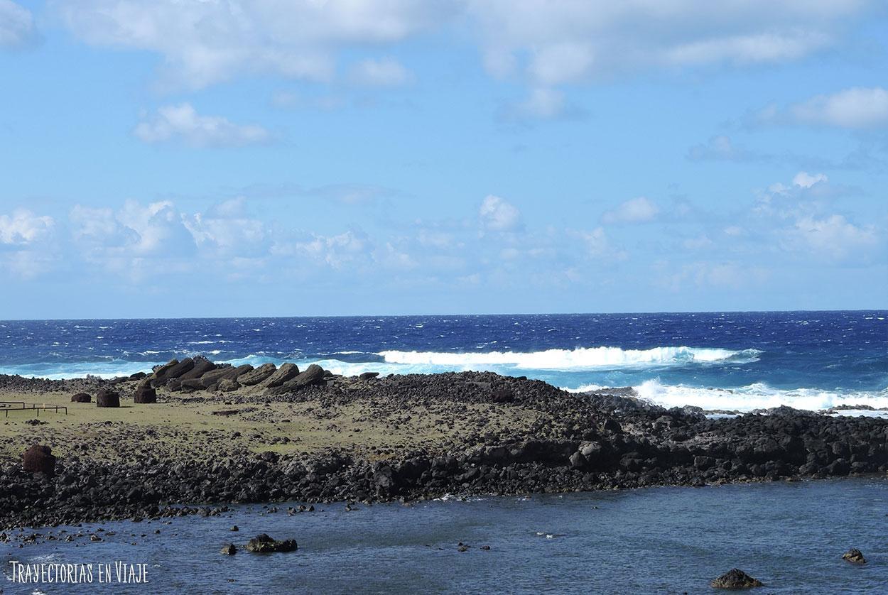 Moais caidos - Isla de Pascua