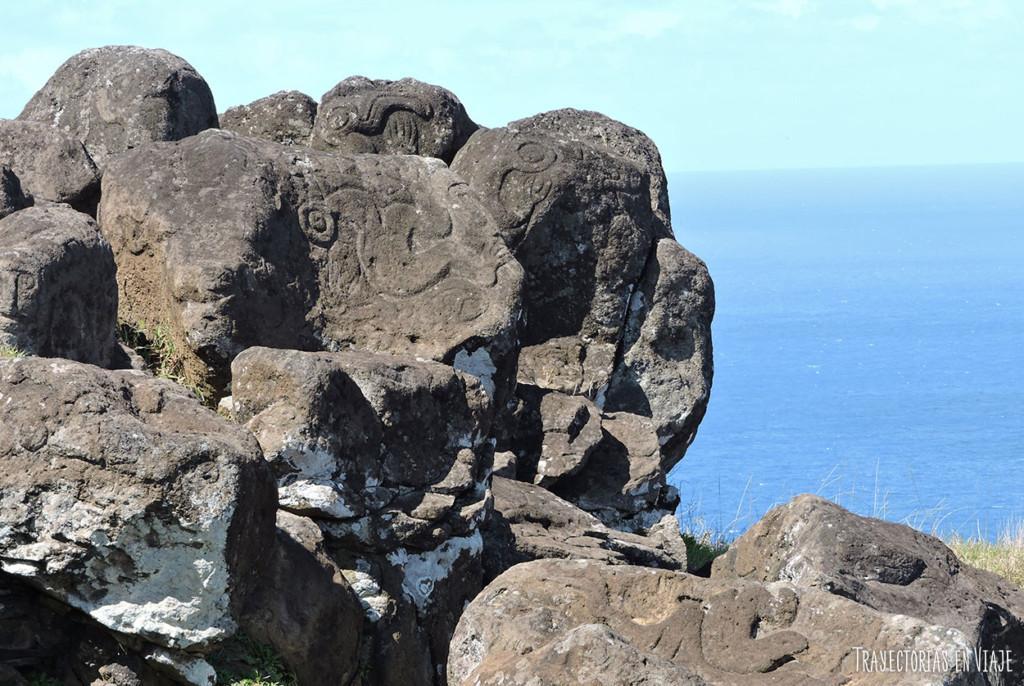 Grabado sobre piedra - Imágenes de Isla de Pascua