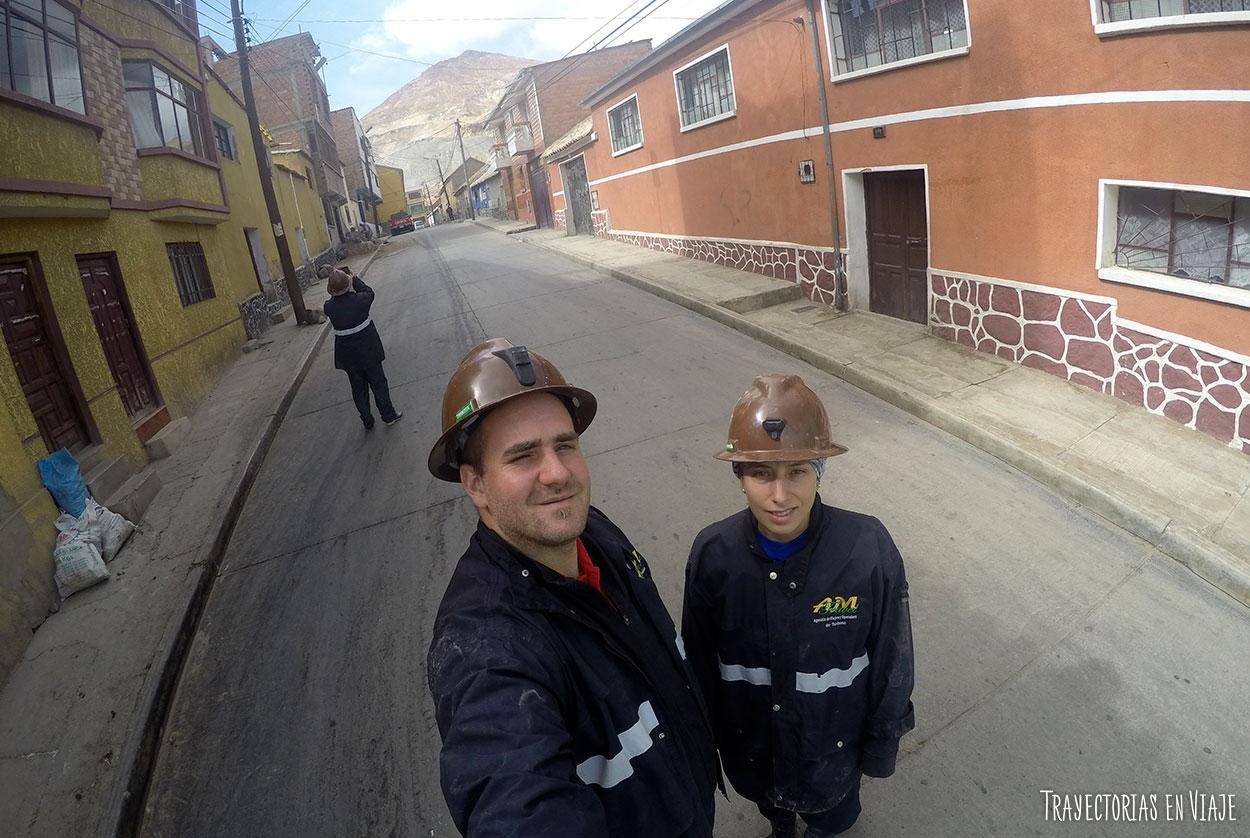 Antes de entrar a las minas de Potosí