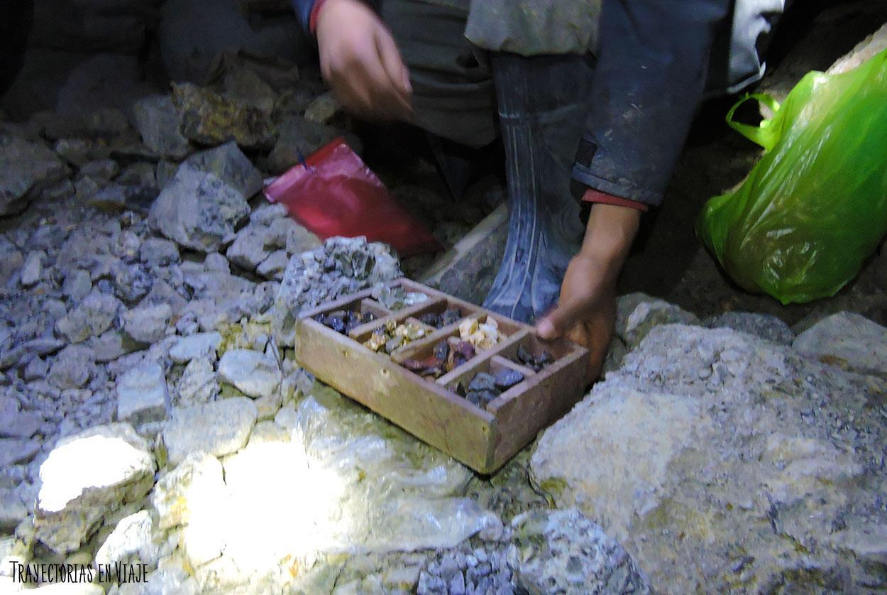 Minerales de las minas de Potosí