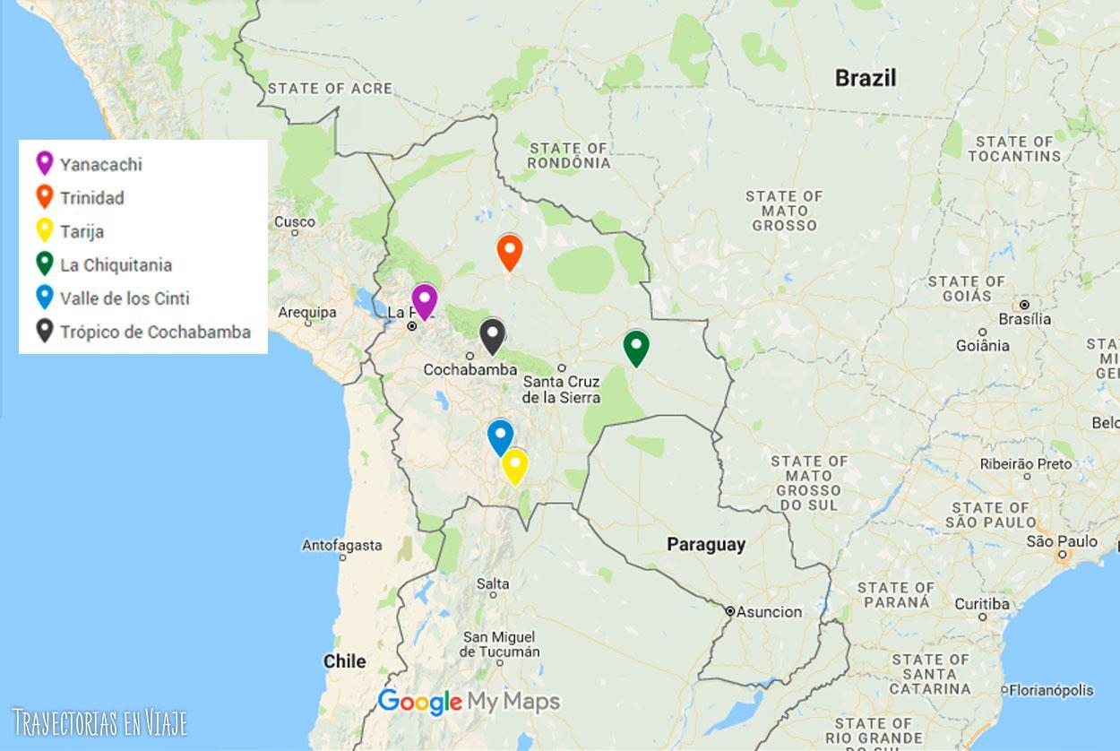 Seis lugares turísticos de Bolivia que muchos no conocen