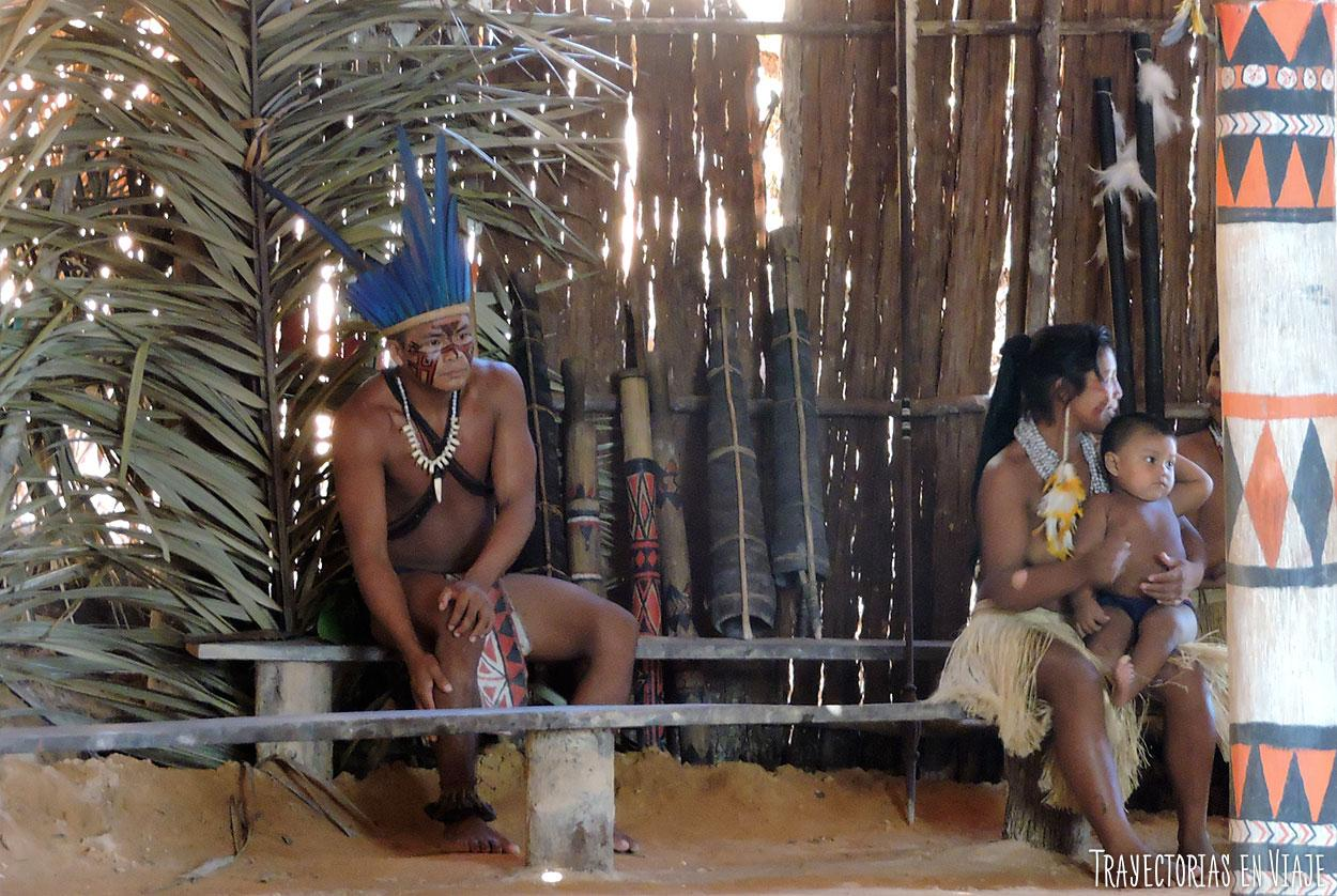 Miembros de comunidades indígenas de la Amazonía brasileña.
