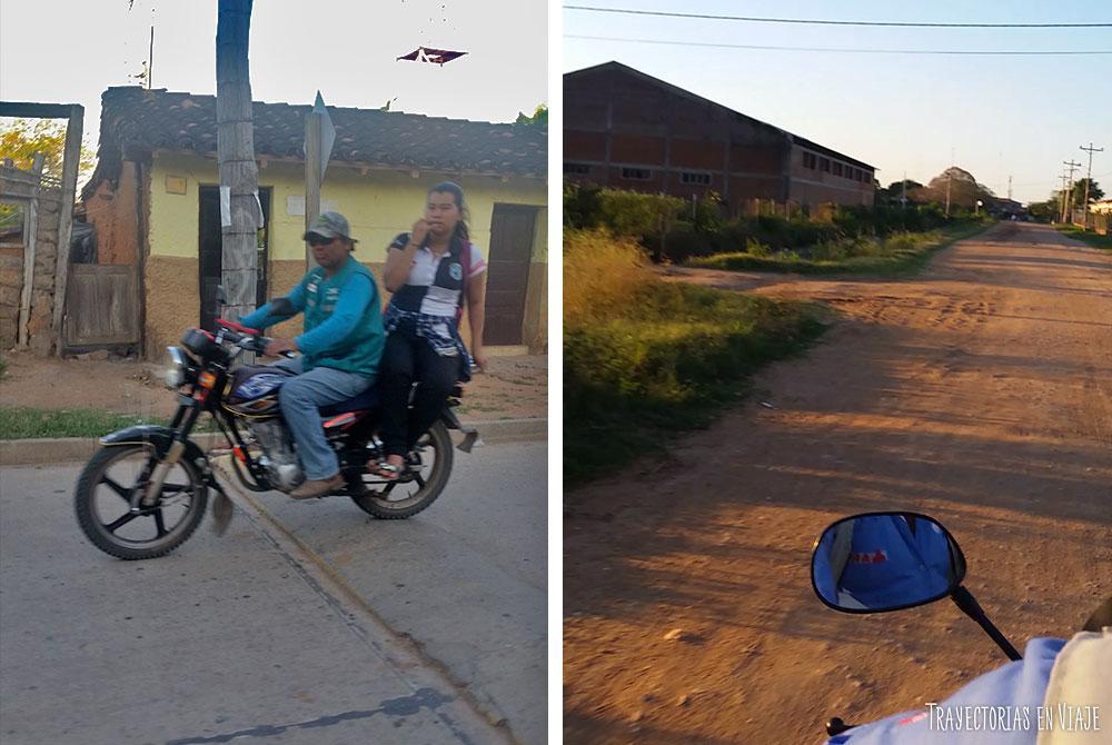 La vida arriba de una moto en San José de Chiquitos