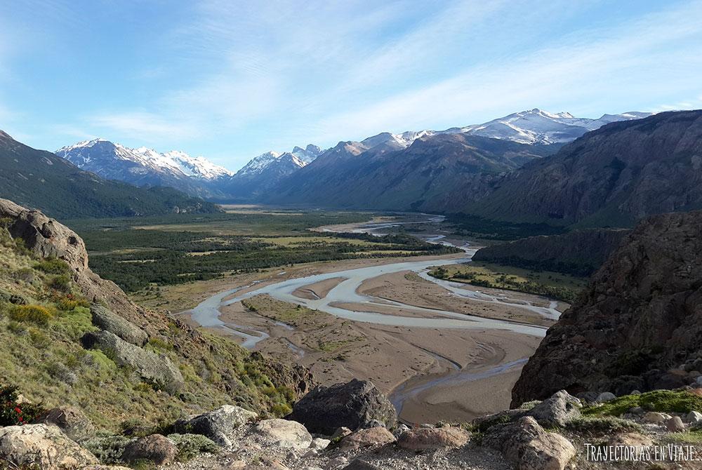 Vista del Río de las Vueltas desde el trekking