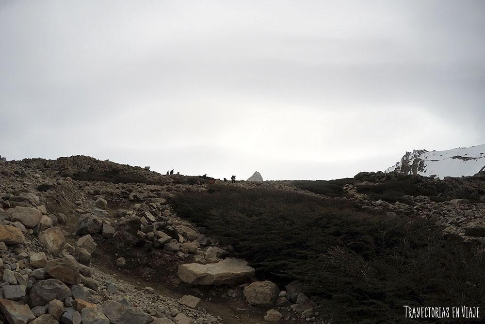 Último tramo del trekking al Fitz Roy