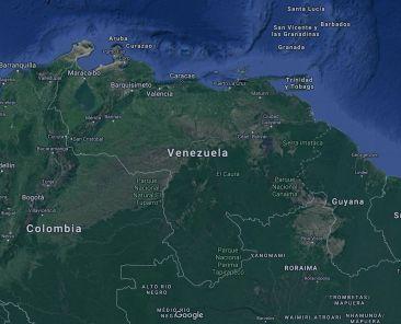 Mapa para viajar a Venezuela